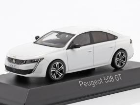 Peugeot 508 GT year 2018 pearl white 1:43 Norev
