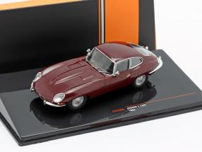 Jaguar E-Type year 1963 dark red 1:43 Ixo