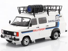 Ford Transit MK II 1979 Rallye Assistance David Jones weiß / blau 1:18 Ixo