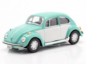 Volkswagen VW Beetle Classic turquoise / white 1:43 Cararama