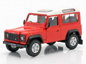 Land Rover Defender 90 red / white 1:43 Cararama