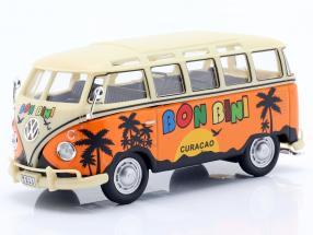 Volkwagen VW Samba Curacao Bon Bini year 1950 orange / beige 1:43 Cararama