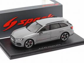 Audi RS 4 Avant year 2018 nardo grey 1:43 Spark