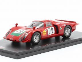 Alfa Romeo 33/2 #70 Winner Rallye Ronde Cevenole 1969 Ignacio Giunti 1:43 Spark