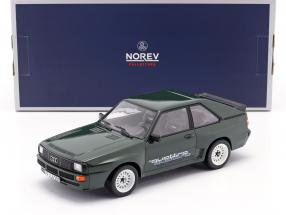 Audi Sport Quattro With quattro decal year 1985 dark green 1:18 Norev