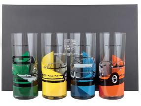 Long drink glasses Set 4 piece Porsche 911 Carrera RS 2.7