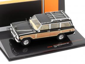 Jeep Grand Wagoneer 4WD year 1989 black / wood look 1:43 Ixo
