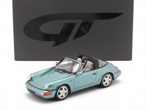 Porsche 911 (964) Carrera 4 Targa year 1991 turquoise metallic 1:18 GT-SPIRIT