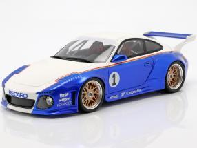 Porsche 911 (997) #1 Old & New Body Kit Rothmans 2018 blue / white 1:18 GT-SPIRIT
