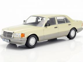 Mercedes-Benz S-Klasse (W126) year 1985 thistle green / grey 1:18 iScale