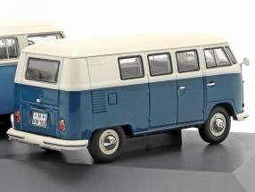 3-Car Set Volkswagen VW Transporter The Air-cooled blue / white