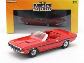 Dodge Challenger R/T 1970 TV series The Mod Squad (1968-1973) red 1:18 Greenlight