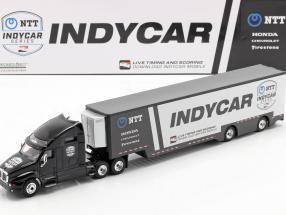 Kenworth T2000 Team Transporter Indycar Series 2020 black / silver 1:43 Greenlight