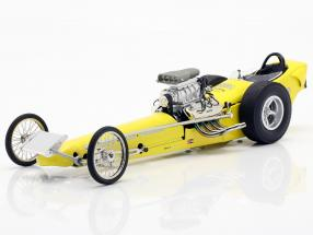 Greer-Black-Prudhomme Vintage Dragster yellow 1:18 GMP