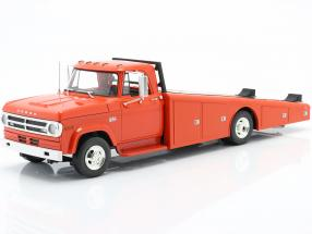 Dodge D-300 Ramp Truck year 1970 orange red 1:18 GMP
