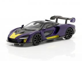 McLaren Senna LHD year 2018 purple / yellow 1:64 TrueScale