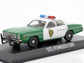 Plymouth Fury Chickasaw Sheriff year 1975 green / White 1:43 Greenlight