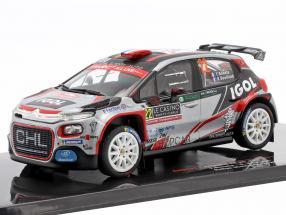 Citroen C3 R5 #22 8th Rallye Monte Carlo 2019 Bonato, Boulloud 1:43 Ixo
