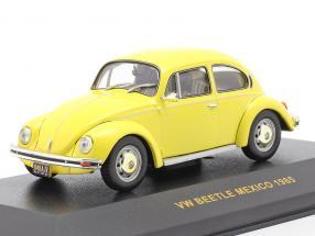 Volkswagen VW Beetle Mexico year 1985 yellow 1:43 Ixo
