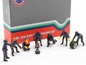 Formula 1 Pit crew characters set #1 Team Blue 1:43 American Diorama