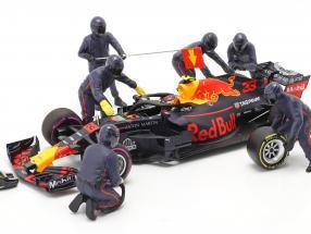 Formula 1 Pit crew characters set #1 Team Blue 1:18 American Diorama