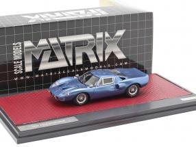Ford GT40 MK III year 1967 blue metallic 1:43 Matrix