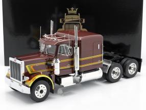 Peterbilt 359 Bull Nose Truck 1967 brown metallic 1:18 Road Kings