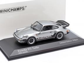 Porsche 911 (930) Turbo 3.3 year 1979 silver 1:43 Minichamps