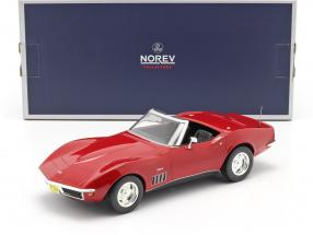 Chevrolet Corvette Convertible year 1969 red 1:18 Norev