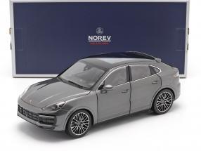 Porsche Cayenne Coupé Turbo year 2019 agate gray metallic 1:18 Norev