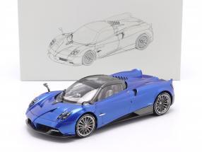 Pagani Huayra Roadster year 2018 blue 1:18 LCD Models