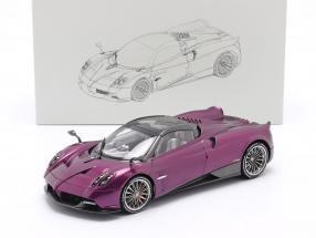 Pagani Huayra Roadster year 2018 purple metallic 1:18 LCD Models