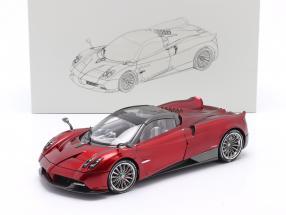 Pagani Huayra Roadster year 2018 red 1:18 LCD Models