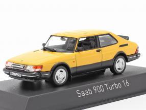 Saab 900 Turbo 16 year 1991 yellow 1:43 Norev