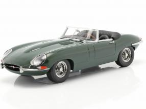 Jaguar E-Type Cabriolet Open Top Series 1 LHD 1961 dark green 1:18 KK-Scale