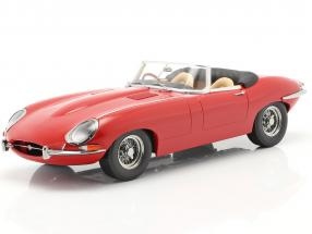 Jaguar E-Type Cabriolet Open Top Series 1 RHD 1961 red 1:18 KK-Scale
