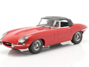 Jaguar E-Type Cabriolet Closed Top Series 1 LHD 1961 red 1:18 KK-Scale