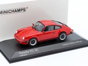 Porsche 911 SC Coupe year 1979 red 1:43 Minichamps