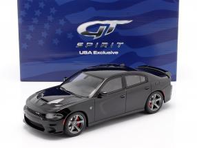 Dodge Charger SRT Hellcat year 2019 pitch black 1:18 GT-Spirit