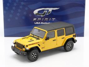 Jeep Wrangler Rubicon Hellayella year 2019 yellow / black 1:18 GT-Spirit