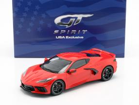 Chevrolet Corvette C8 year 2020 torch red 1:18 GT-Spirit