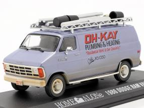 Dodge Ram Van 1986 Movie Home Alone (1990) silver blue 1:43 Greenlight