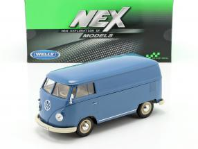 Volkswagen VW Bulli T1 Van year 1963 blue 1:24 Welly
