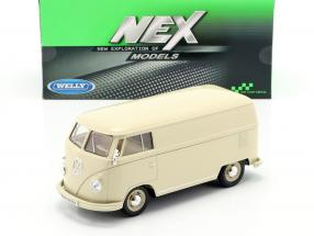 Volkswagen VW Bulli T1 Van year 1963 cream white 1:24 Welly