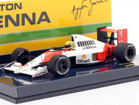 Ayrton Senna McLaren MP4/5B #27 German GP F1 World Champion 1990 1:43 Minichamps