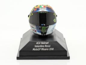 Valentino Rossi MotoGP Misano 2018 AGV helmet 1:8 Minichamps