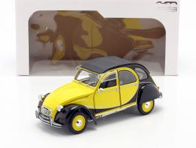 Citroen 2CV6 Charleston year 1982 yellow / black 1:18 Solido