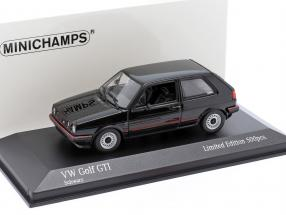 Volkswagen VW Golf II GTi year 1985 black 1:43 Minichamps