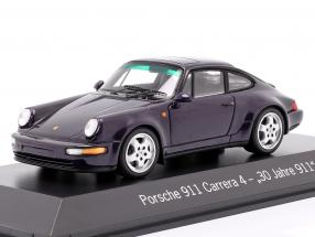 Porsche 911 Carrera 4 30 Years 911 purple metallic 1:43 Spark
