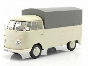 Volkswagen VW Typ 2 T1b Pickup truck with cover beige / grey 1:32 Schuco
